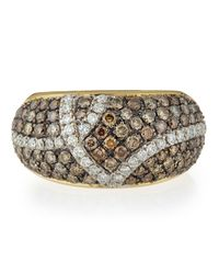 Roberto Coin | Metallic Fantasia Looping Pav Diamond Ring Size 65 | Lyst