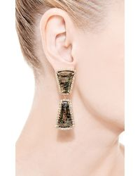 Kimberly Mcdonald - Green One Of A Kind Double Apache Gold and Graduated Diamond Earrings - Lyst