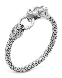 John Hardy | Metallic Naga Dragon Diamond-ring Bracelet | Lyst