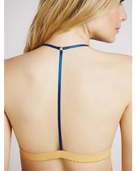 Free People | Blue Staci Woo And Intimately Womens T Back Triangle Print Bra | Lyst