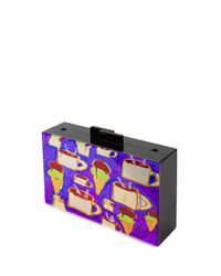Maria Brito - Multicolor Coffee And Ice Cream Clutch - Lyst