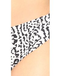 Calvin Klein   Black Invisibles Printed Thong - Introspective Skin Print   Lyst