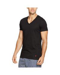 Polo Ralph Lauren - Blue Cotton V-neck T-shirt 3-pack for Men - Lyst