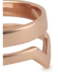 Maria Black | Pink Detour Rose Gold Plated Midi Ring | Lyst