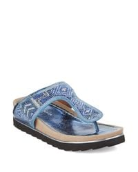 Donald J Pliner | Blue Cali Beaded Sandals | Lyst