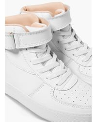 Mango | White Lace-up Leather Sneakers | Lyst