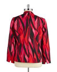 Nipon Boutique - Metallic Plus Patterned Open-front Jacket - Lyst