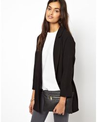 ASOS   Black Zip Top Clutch Bag with Laser Cut   Lyst