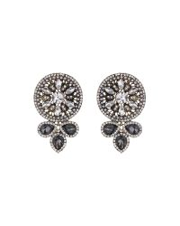 Mikey | Black Fillagary Design Rnd Crystal Earring | Lyst