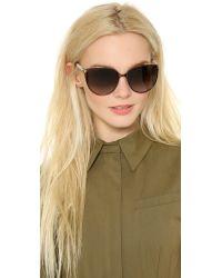 Jimmy Choo | Posie Sunglasses - Ivory/brown | Lyst