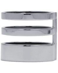 Repossi | Metallic White Gold Triple Band Berbere Ring | Lyst