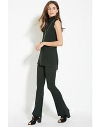 Forever 21 - Green Contemporary Ribbed Knit Flared Pants - Lyst