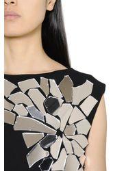 Loewe - Black Mirror-Embellished Cotton Midi Dress - Lyst