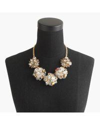 J.Crew | Metallic Jeweled Geometric Pearl Necklace | Lyst