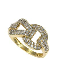 Effy | Metallic Diamond And 14k Yellow Gold Ring, 0.69 Tcw | Lyst