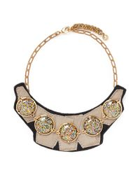 Lulu Frost | Multicolor 'audrey' Glitter Dome Grosgrain Bib Necklace | Lyst