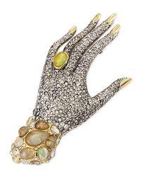 Alexis Bittar - Yellow Jardin Mystere Crystal Hand Pin Brooch - Lyst