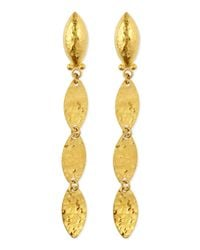 Gurhan | Metallic Willow 24k Gold Triple-drop Earrings | Lyst