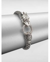 John Hardy | Metallic Naga Diamond & Sterling Silver Dragon Bracelet | Lyst