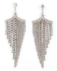 A.V. Max - Metallic Silver Tone Rhinestone Chandelier Earrings - Lyst