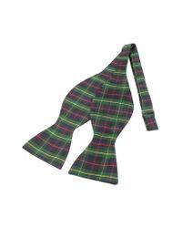 FORZIERI | Green Plaid Printed Silk Self-tie Bowtie for Men | Lyst