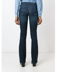 7 For All Mankind | Blue Bootcut Jeans | Lyst