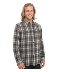 Rip Curl - Gray Salida Long Sleeve Flannel for Men - Lyst