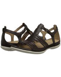 Ecco - Brown Flash Huarache Sandal - Lyst