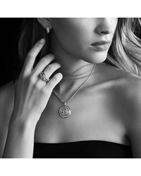 David Yurman - Yellow Labyrinth Disc Pendant With Diamonds - Lyst