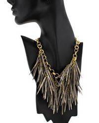 Ashley Pittman - Metallic Kura Necklace in Grey Bone - Lyst
