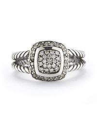 David Yurman | Metallic Pre-owned Sterling Silver Albion Diamond Ring | Lyst