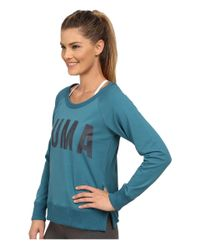 PUMA | Blue Sweat Crew | Lyst