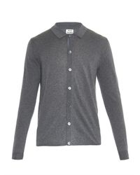 Acne Studios - Gray Clissold Merino-Wool Polo Sweater for Men - Lyst