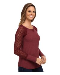 Lucky Brand - Red Lace Raglan Thermal - Lyst