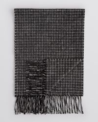 Bloomingdale's - Black Tattersall Cashmere Scarf for Men - Lyst