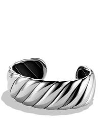 David Yurman | Metallic Sculpted Cable Narrow Cuff | Lyst