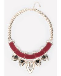 Bebe | Multicolor Velvet & Crystal Necklace | Lyst