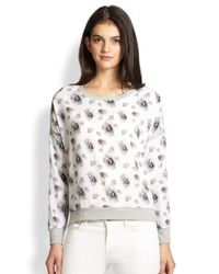 Generation Love - Gray Floral-Print Dropped-Shoulder Sweatshirt - Lyst
