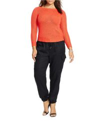 Lauren by Ralph Lauren - Orange Plus Bateau-neck Sweater - Lyst