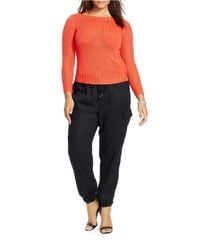 Lauren by Ralph Lauren | Orange Plus Bateau-neck Sweater | Lyst
