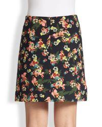 Erdem - Blue Calista Mini Skirt - Lyst