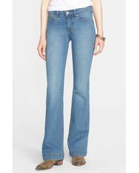 Free People | Blue 'Gummy' Mid Rise Flare Jeans | Lyst