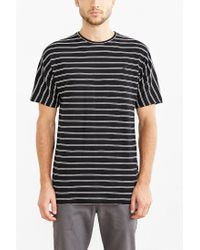 Timberland | Black Luther Striped Dolman Tee for Men | Lyst