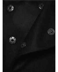 The Viridi-anne - Black Stand Collar Long Coat for Men - Lyst