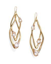 Alexis Bittar - Metallic Miss Havisham Liquid Crystal Floating Stone Orbital Earrings - Lyst