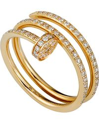 Cartier | Red Juste Un Clou 18ct Yellow-gold And Diamond Ring | Lyst