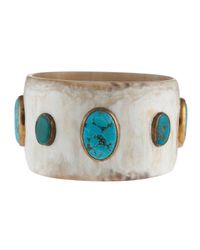 Ashley Pittman | Blue Zuri Turquoise Bangle | Lyst