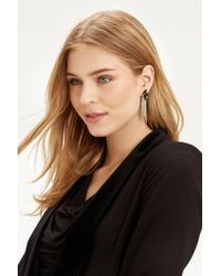 Oasis - Multicolor Leaf And Chain Front To Back Earring - Lyst