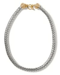 Banana Republic - Metallic Toggle Link Necklace - Lyst
