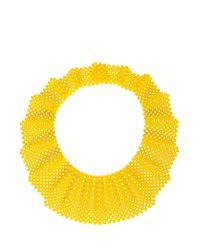 Del Duca - Yellow Mia Bib Necklace - Lyst